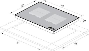 Thông số kỹ thuật Bếp từ đôi SPE-IC 1089